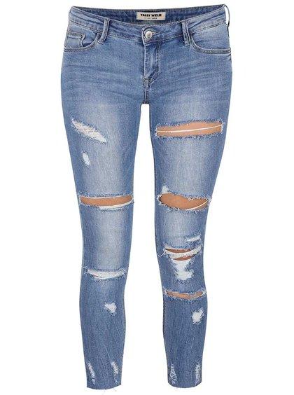 Světle modré džíny s dírami na kolenou TALLY WEiJL