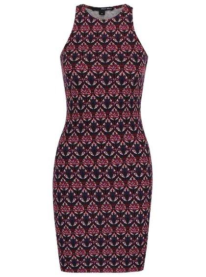 Fialové vzorované šaty TALLY WEiJL