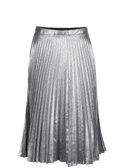 Fustă plisată argintie Miss Selfridge