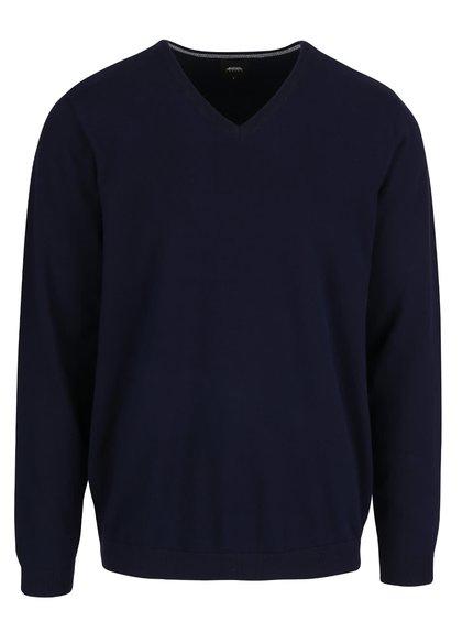 Tmavě modrý svetr s véčkovým výstřihem Burton Menswear London