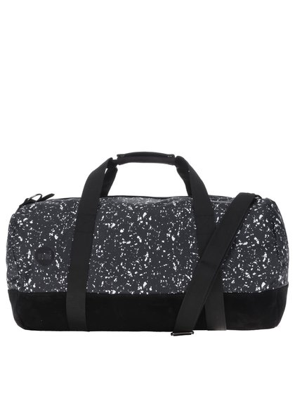Čierna športová taška s bielym vzorom Mi-Pac Duffel Splattered