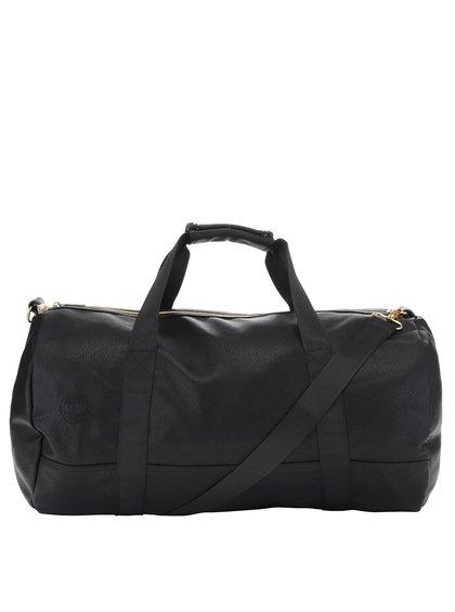 Čierna unisex taška s detailmi v zlatej farbe Mi-Pac Duffel Tumbled