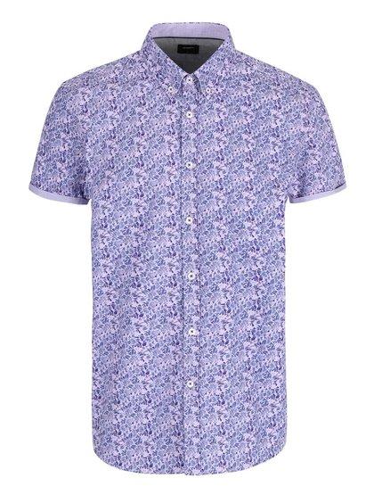Fialová košeľa s kvetovanou potlačou Burton Menswear London