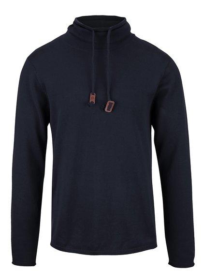 Tmavomodrý ľahký sveter s rolákom Blend