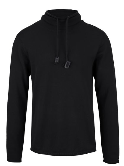 Čierny ľahký sveter s rolákom Blend