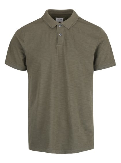 Khaki polo triko Burton Menswear London