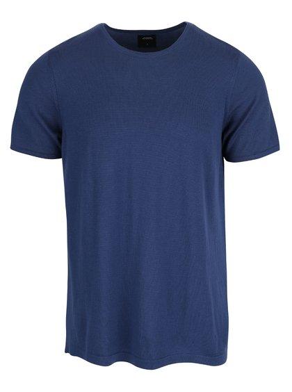 Modré tričko s krátkym rukávom Burton Menswear London