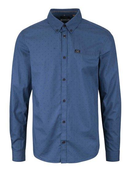 Modrá vzorovaná slim fit košeľa Blend