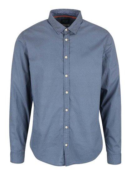 Světle modrá vzorovaná slim fit košile Blend
