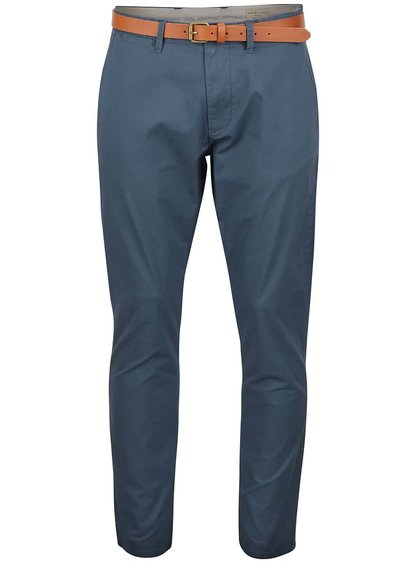 Sivomodré chino nohavice Selected Homme Yard
