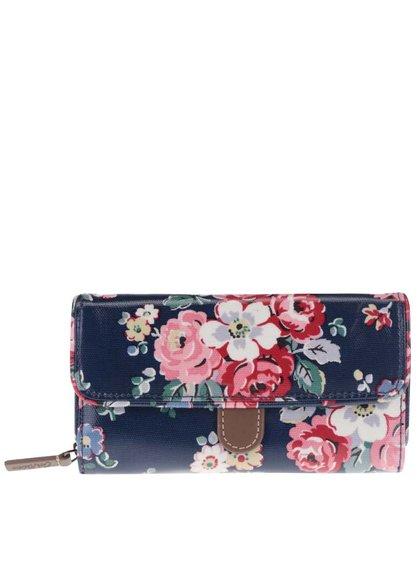 Tmavě modrá peněženka s barevnými květinami Cath Kidston
