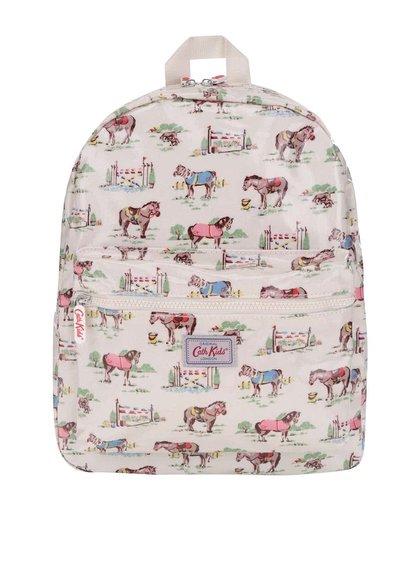 Krémový dětský batoh s motivem koní Cath Kidston