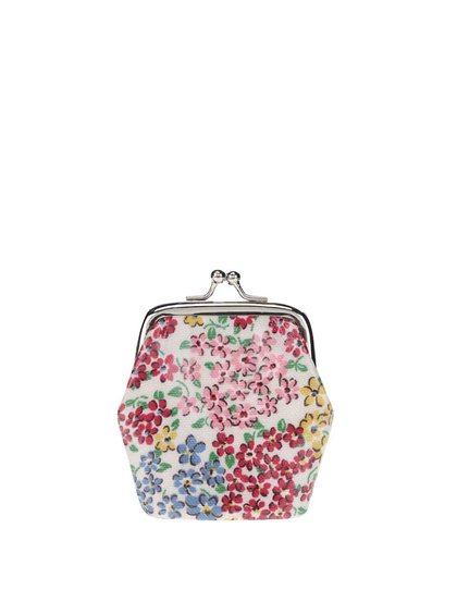 Krémová malá peňaženka s kvetinovým motívom Cath Kidston