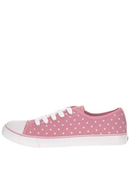 Teniși roz cu buline pentru femei Cath Kidston