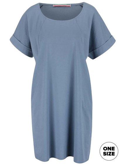 Světle modré šaty s krátkým rukávem ZOOT Simple