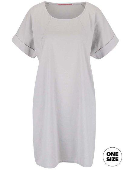 Světle šedé šaty s krátkým rukávem ZOOT Simple