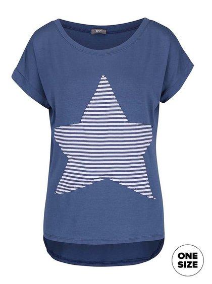 Tricou albastru ZOOT simple cu aplicație