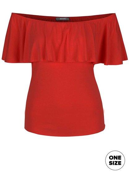 Červené tričko s odhalenými rameny ZOOT simple