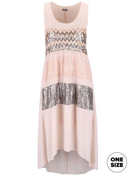 Svetloružové šaty ozdobené flitrami ZOOT Now