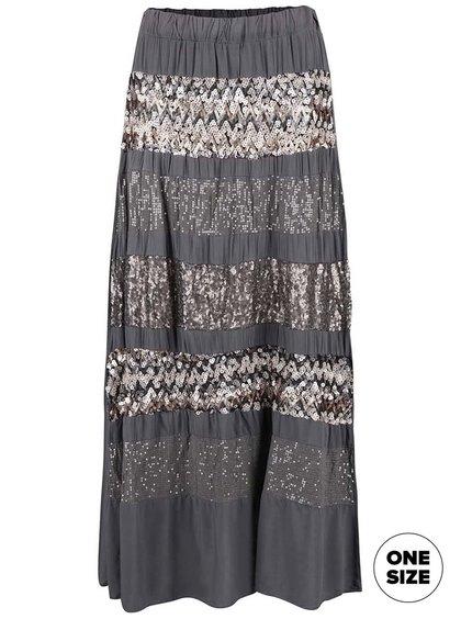 Tmavosivá sukňa ozdobená flitrami ZOOT Now