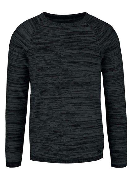 Černý žíhaný lehký svetr Blend