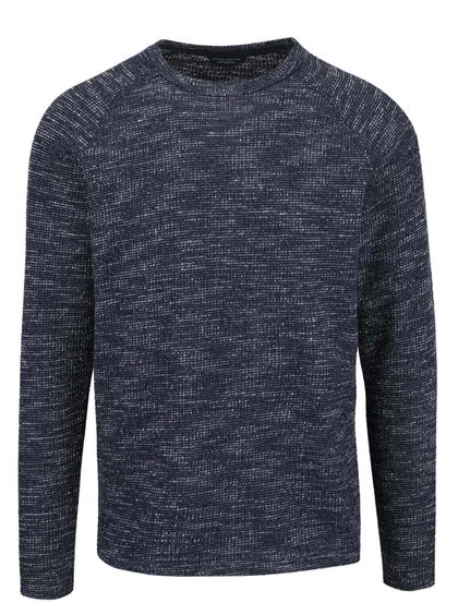 Pulover bleumarin Jack & Jones Main cu model în dungi