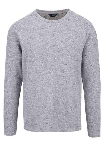 Světle šedý žíhaný svetr Jack & Jones Main