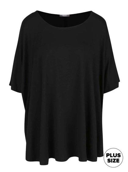 Čierne dámske voľnejšie tričko s netopierími rukávmi ZOOT simple