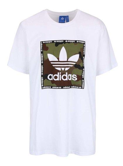 Bílé pánské triko s potiskem adidas Originals Camo