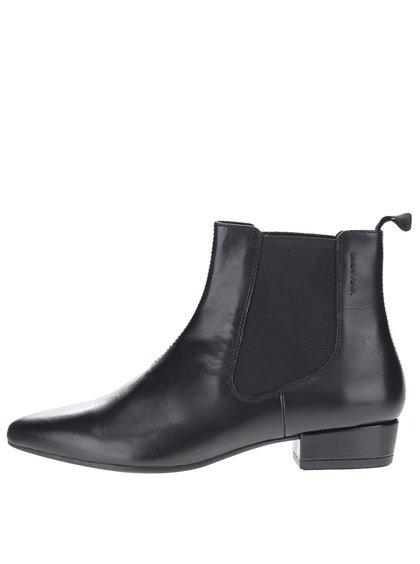 Čierne dámske kožené chelsea topánky Vagabond Sarah
