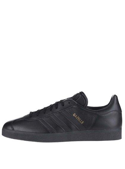 Čierne pánske kožené tenisky adidas Originals Gazelle