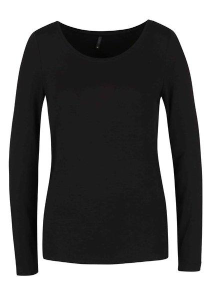 Čierne tričko s dlhým rukávom ONLY Jewel