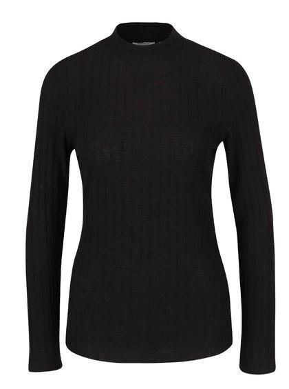 Čierne tričko s rolákom ONLY Great Ripena