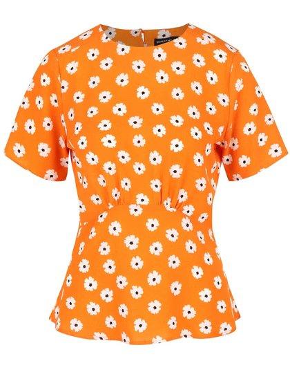 Top portocaliu Dorothy Perkins cu imprimeu