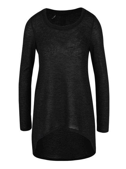 Čierny ľahký dlhší sveter ONLY Sola