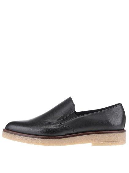 Černé kožené loafers OJJU Ricky