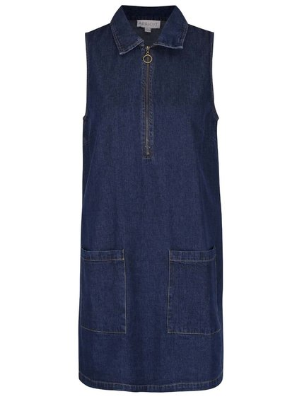 Tmavomodré rifľové šaty s vreckami Apricot