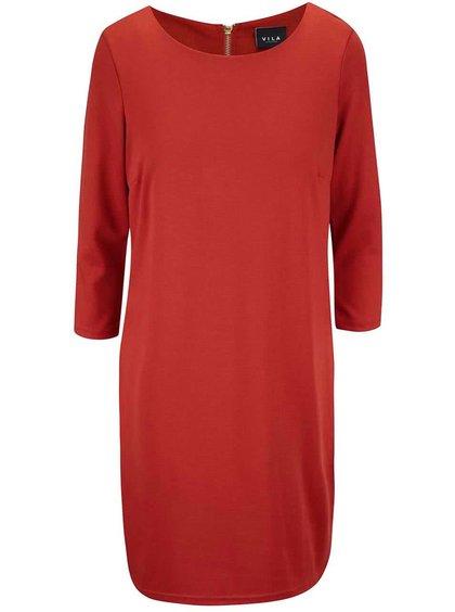 Cihlové šaty VILA Tinny
