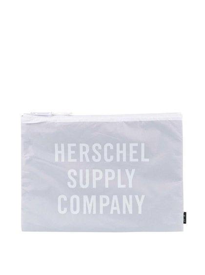 Sivé puzdro na zips Herschel Network XL