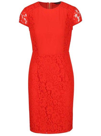 Rochie roșie Dorothy Perkins cu dantelă