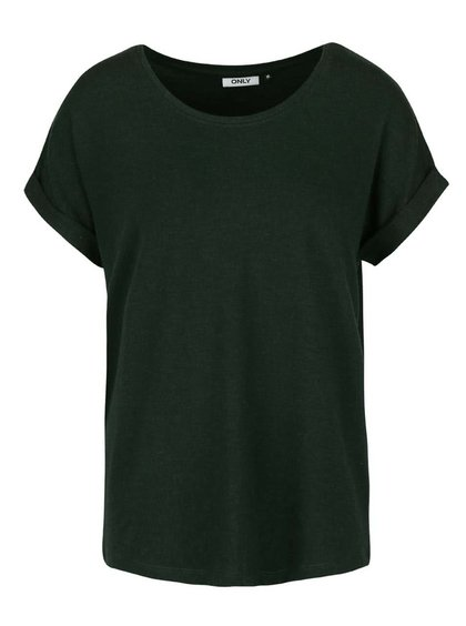 Tricou verde închis oversized ONLY Moster