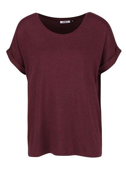 Tricou vișiniu oversized ONLY Moster