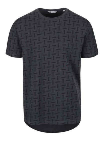 Tmavosivé vzorované tričko ONLY & SONS Komma