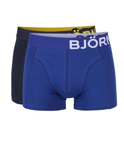 Set 2 perechi de boxeri Björn Borg albastru/negru