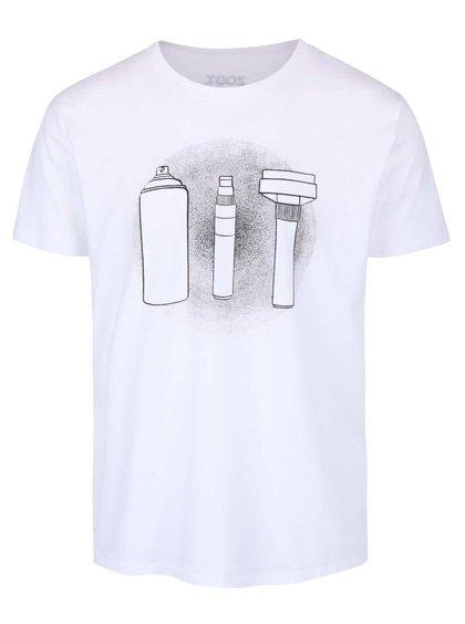 Tricou alb cu print ZOOT Originál Weapons pentru bărbați