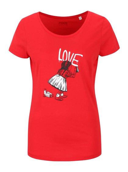 Červené dámské tričko ZOOT Originál Little Girl Spray