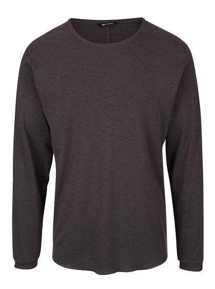Tmavosivé žíhané tričko s dlhým rukávom ONLY & SONS Karl