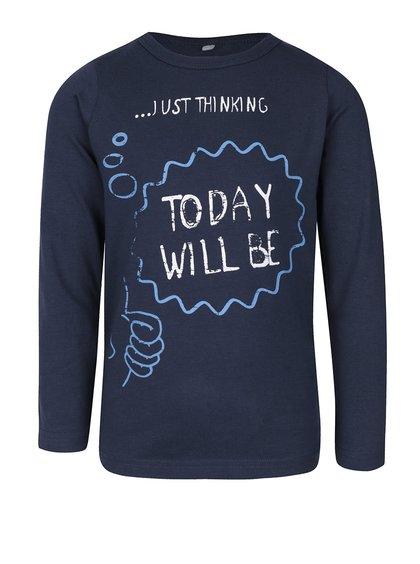 Modré chlapčenské tričko s dlhým rukávom name it Vix