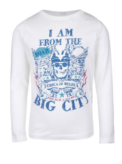 Krémové chlapčenské tričko s dlhým rukávom name it Vix