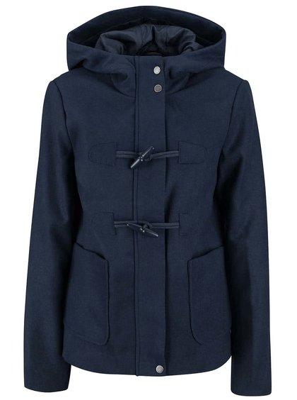 Tmavomodrý kratší kabát s kapucňou VERO MODA Modaliga